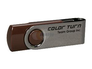 Team Color Turn 8GB USB 2.0 Flash Drive (Brown) Model TG008GE902C