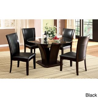Furniture Of America Gale 5 piece Two tone Glass And Cherrywood Dining Set
