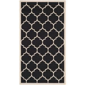 Safavieh Courtyard Black/Beige 2.6 ft. x 5 ft. Area Rug CY6914 266 3