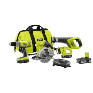 18 Volt Lithium Ion Super Combo Kit with Extra Lithium Plus Compact Battery P883 107
